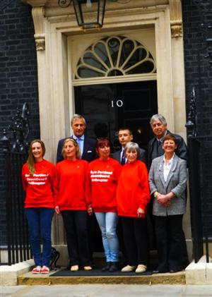 Portland helicopter campaigners deliver 108,500-strong petition to Number 10