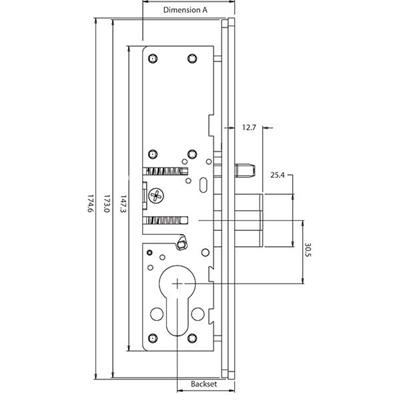 Europrofile Cylinder Deadlatch 524570 Series