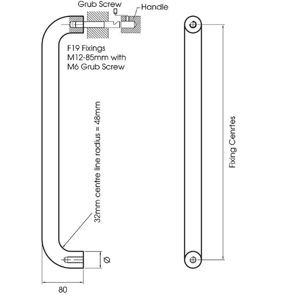 Pull door handle straight pull handles for 1180 2 door pull
